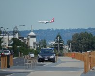 Samolot przy lądowaniu